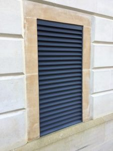 Aluminium Louvres fitted to building