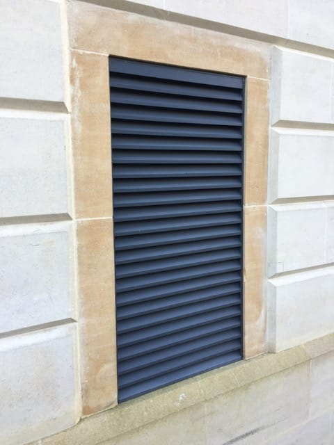basement car park benefits from aluminium louvres superior insulated