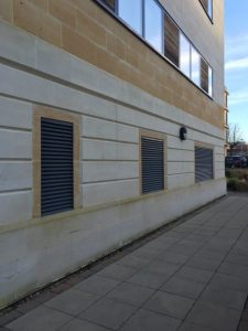 image of Powder Coated Grey RAL 7016 louvres