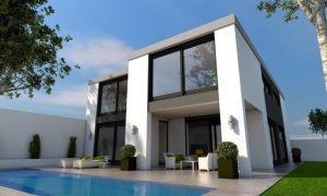 home with aluminium cladding